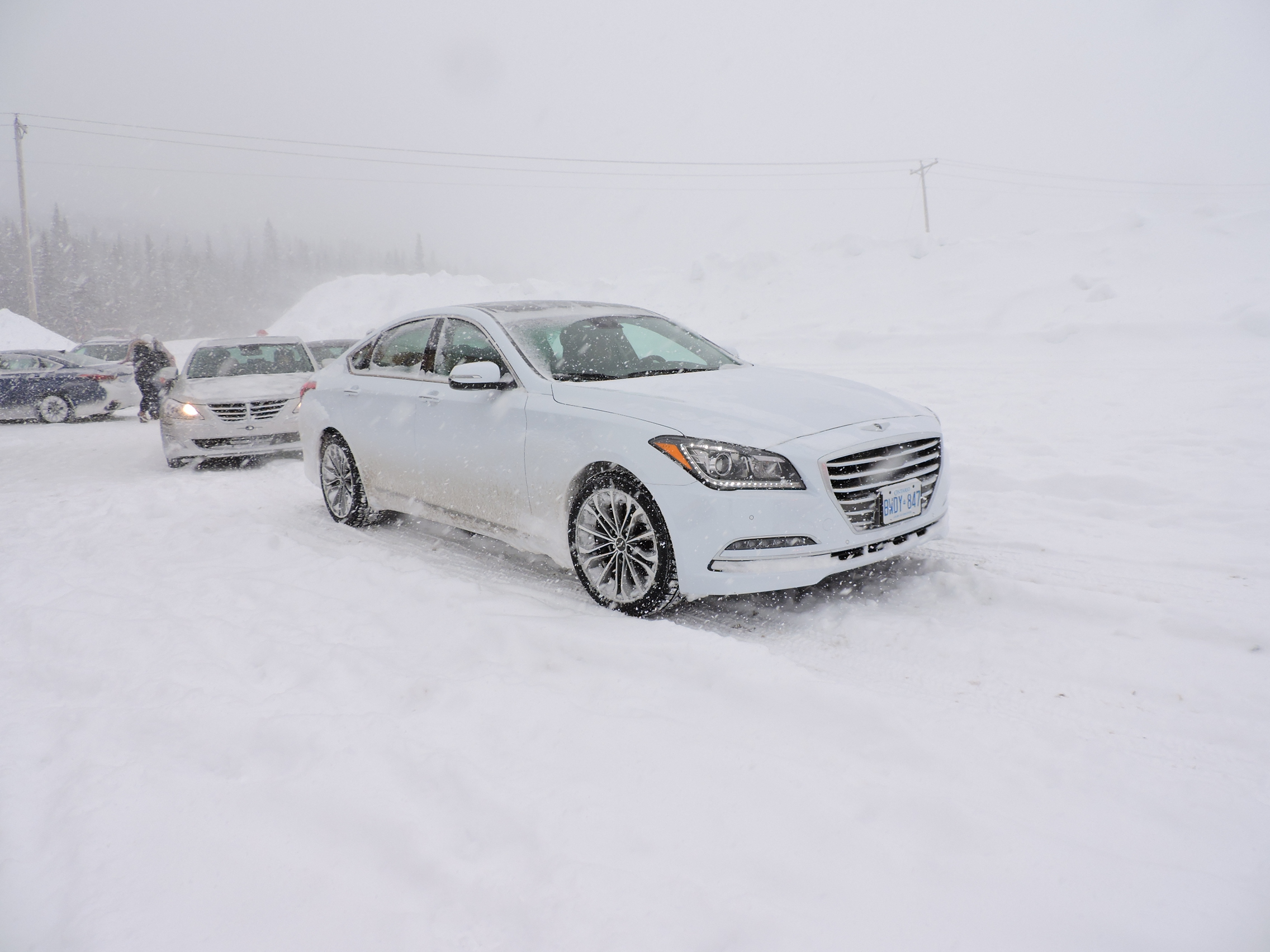 Winter Testing The Hyundai Genesis H Trac Autoguide Com News