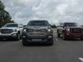 2016 GMC Sierra (L to R) SLT, Denali and All Terrain