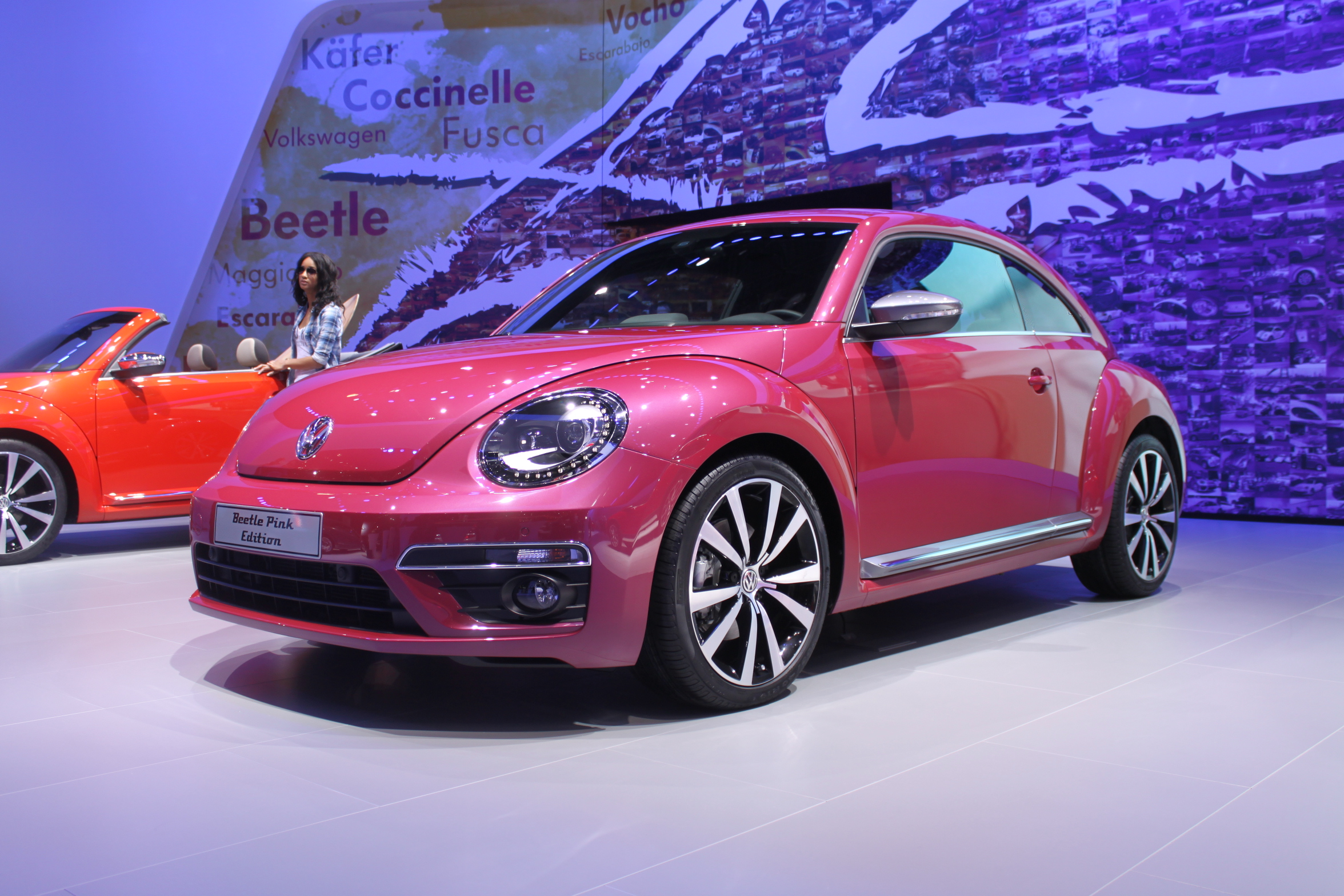 100 volkswagen beetle pink convertible used. Black Bedroom Furniture Sets. Home Design Ideas