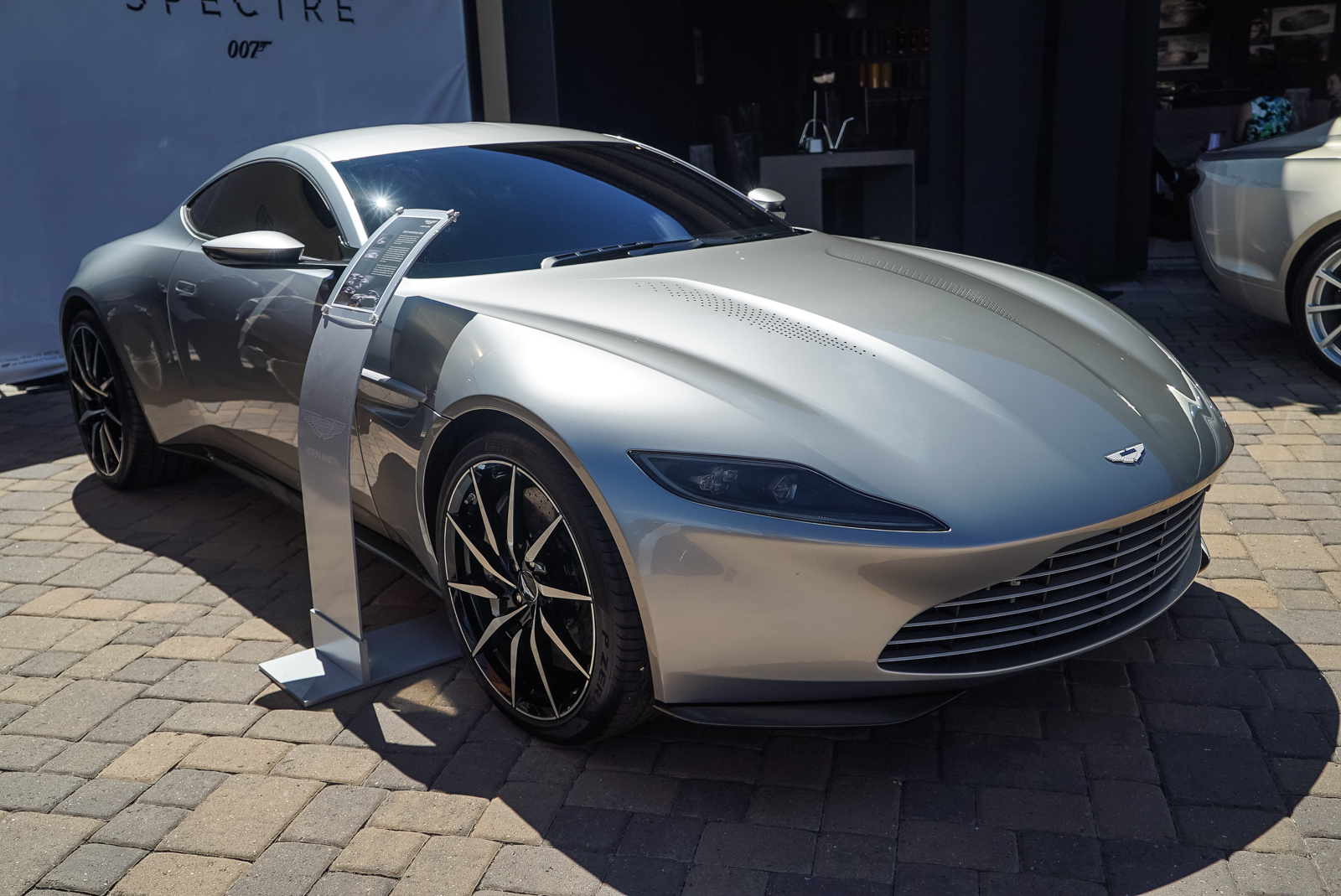 james bond aston martin db10 debuts at pebble beach news. Black Bedroom Furniture Sets. Home Design Ideas