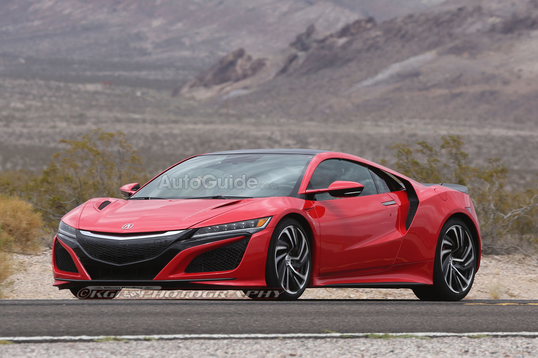 2016 acura nsx red spy pics 7