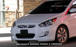 2012 Hyundai Accent Spied On U.S. Shores