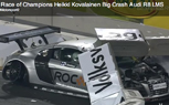 Heikki Kovalainen Crashes Audi R8 LMS at Race of Champions Event [Video]