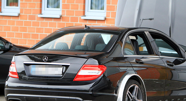 Mercedes-Benz C63 AMG Black Series Spied