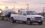 What's Best for Towing a Spacecraft? A 17-Year-Old Chevy Pickup