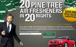 Conan O'Brien Giving Away 20 Pine Tree Air Fresheners, Complete With Chevy Cruze