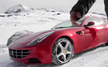 Ferrari FF Spied Testing AWD on Snow Covered Roads [Video]