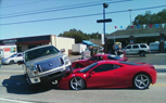 Ferrari 458 Italia Crushed By Ford F-150 In Florida