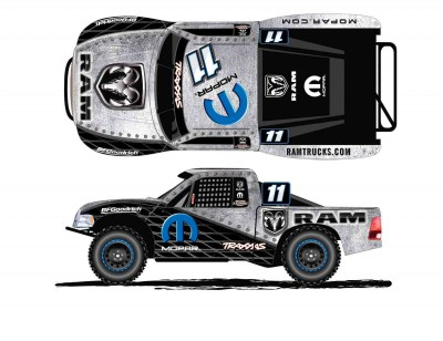 Computer-generated rendering of the Ram Truck / Mopar® sponsored