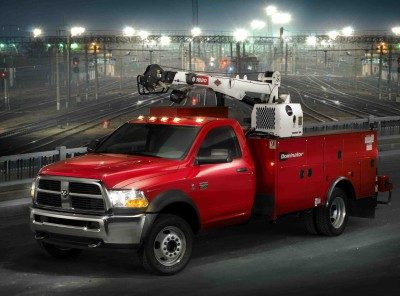 2010 Dodge Ram 4500 ST Chassis Cab with crane body and compresso