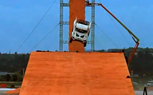 Hot Wheels World Record Jump Practice Run Nearly Ended in Disaster [video]