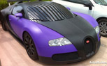 Matte Black And Blue Bugatti Veyron Surfaces in France