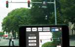 Dashboard Mounted Smartphones Track Traffic Light Times