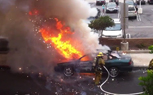 Watch as a Burning Car Explodes in a Firefighter's Face [Video]