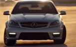 Mercedes C63 AMG Coupe Drifts Around C63 AMG Sedans [Video]