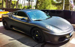 Dartz FR Wraps A Ferrari F430 With Black Leather Vinyl