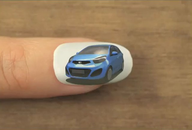 Kia Nails It With Picanto Nail Art Animation Autoguide News