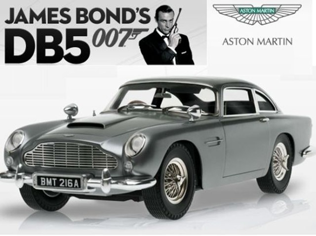 build a model replica of james bond's aston martin db5 over 85 weeks