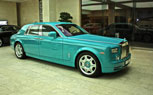 Turquoise Painted Rolls-Royce Phantom Found In Doha, Qatar