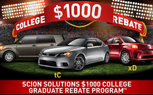Scion to Offer Recent Graduates $1,000 Off on All New Vehicles