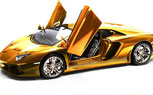 Lamborghini Aventador Scale Model Gets A Gold Facelift, Insane Price Tag