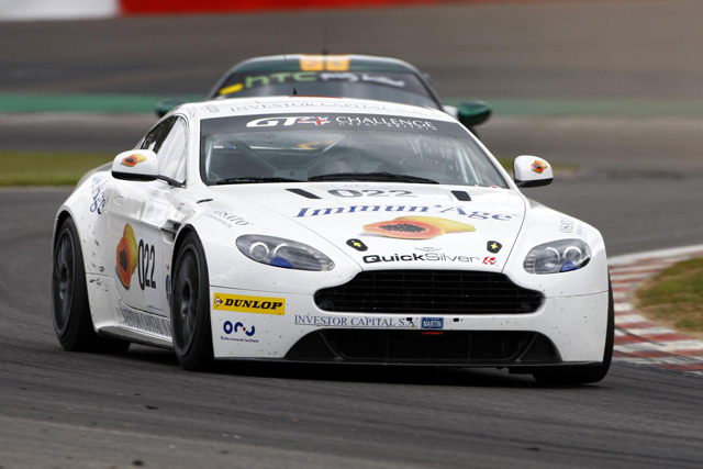 Aston martin v8 vantage gt4 race car