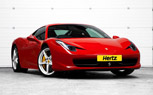 Rent a Ferrari 458 or Lamborghini Aventador at Hertz UK