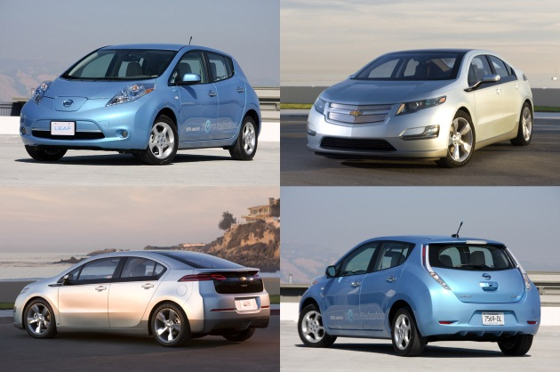 Image result for Nissan Leaf vs Chevrolet Volt