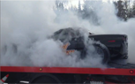 Watch a Corvette Burnout on the Back of a Flatbed Pickup [Video]