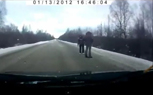 Winter Driving Rollover Caught on Video