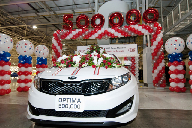 Kia Celebrates 500,000th Car at Georgia Plant