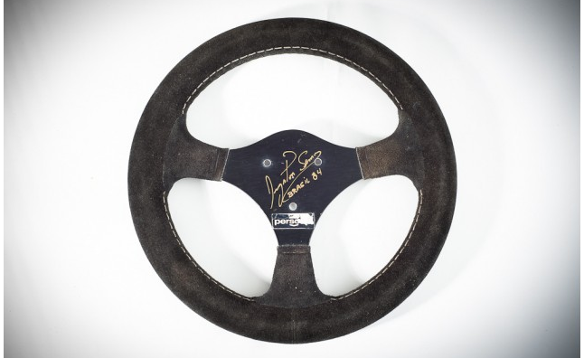 Ayrton Senna's Autographed Formula 1 Steering Wheel Up For Auction