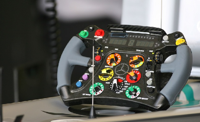 Michael Schumacher Explains Formula 1 Steering Wheel in Video