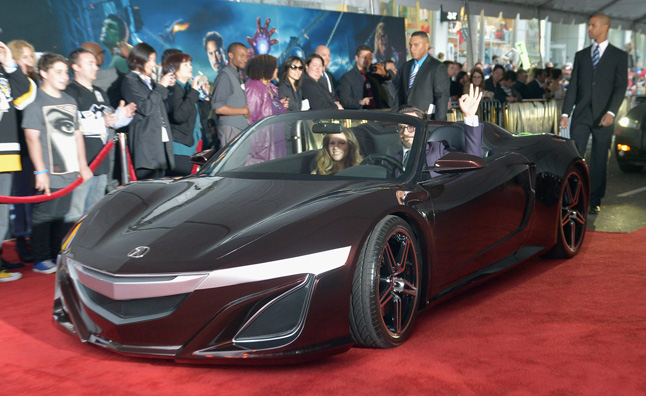 Acura NSX Roadster Drives the Red Carpet at Avengers Premiere