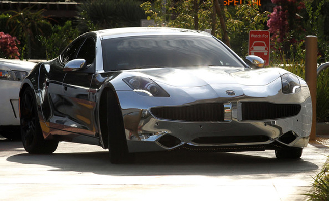 Chrome-Wrapped Fisker Karma is Bieber's Latest Toy