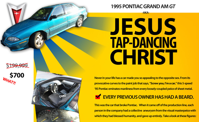 Craigslist Pontiac Grand Am GT Advertisement is Hilarious and Ridiculous