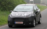2013 Ford Fiesta Sedan Face lift Caught in Spy Photos