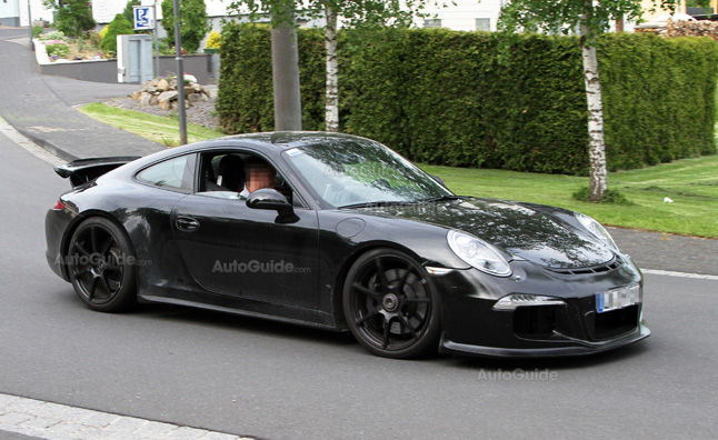2013 Porsche 911 GT3 Near-Production Model in Spy Photos