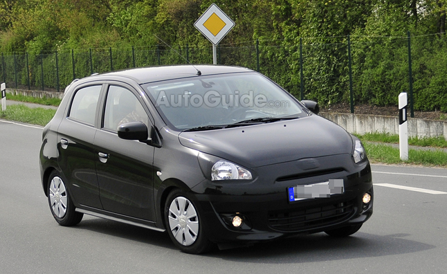 Mitsubishi Colt Caught Testing in Spy Photos