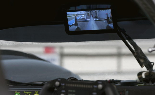 Audi Adds Digital Rear-View Mirror to R18 Race Car