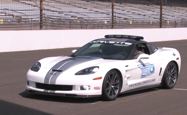 Corvette ZR1 Pace Car Running Practice Laps – Video