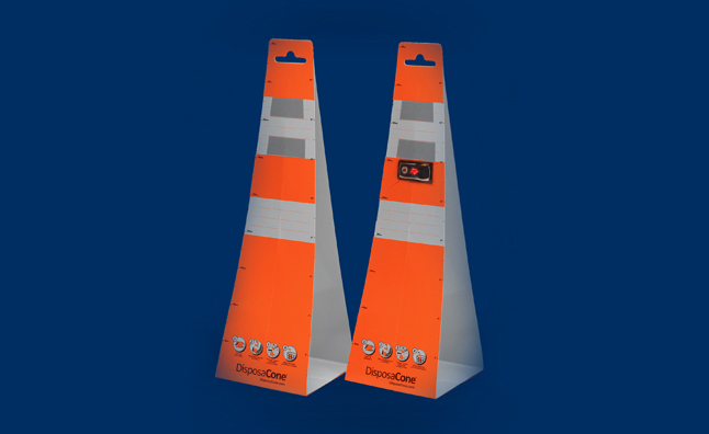 DisposeaCones an Inexpensive Alternative to Traffic Cones – Video