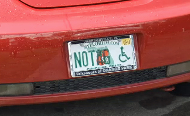 Another 'NOTAG' Vanity Plate Results in $8,000 in Parking Tickets