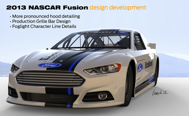 2013 NASCAR Ford Fusion Styling Tweaked… Again