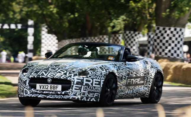 Jaguar F-Type Makes Global Public Debut at Goodwood