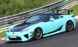 Lexus LFA AD-A Edition Nurburgring Spy Photos Reveal New Baby-Blue Model