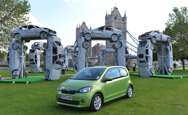 Stonehenge Recreated with Scrap Cars by Skoda
