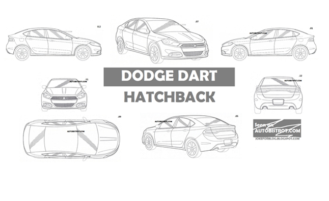 Dodge Dart Hatchback Maybe Revealed in Patent Drawings