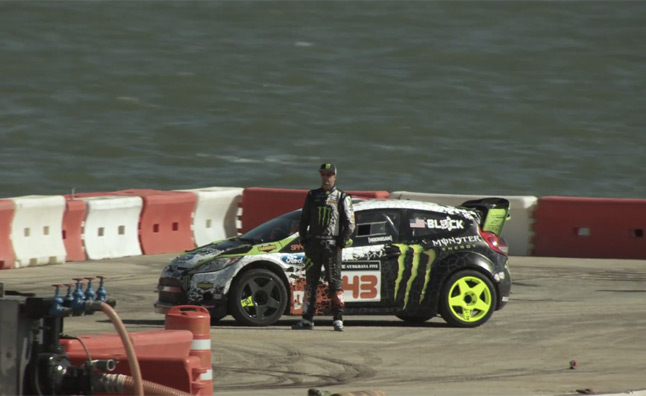 Ken Block 'Gymkhana Five' Teased With One Large Barge – Video