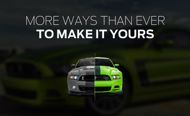 Win a Customized 2013 Ford Mustang by Designing It